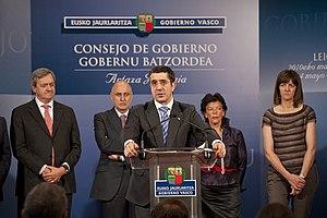 Español: Comparecencia del Gobierno Vasco tras...