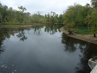 Concord Massachusetts Concord River as seen from bridge.JPG