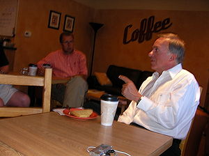 Tom Tancredo - Tancredo campaigning in Adel, Iowa in 2007