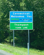 Connecticut state welcome sign