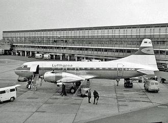 Lufthansa Flight 005 - Similar plane D-ACAD at Copenhagen Airport, 1968