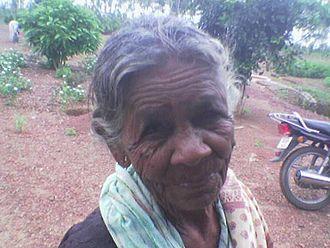 Kurukh people - Kurukh woman in the Chota Nagpur Plateau