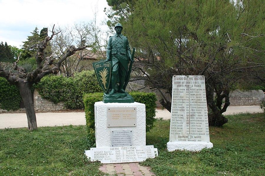 Cournonterral (Hérault) - monument aux morts.