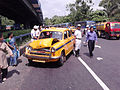 Crashed Taxi - Multiple Car Accident - Rabindra Sadan Area - Kolkata 2012-06-13 01323.jpg