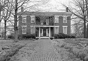 National Register of Historic Places listings in Henry County, Tennessee - Image: Crawford Governor Porter House, 407 Dunlap Street, Paris (Henry County, Tennessee)