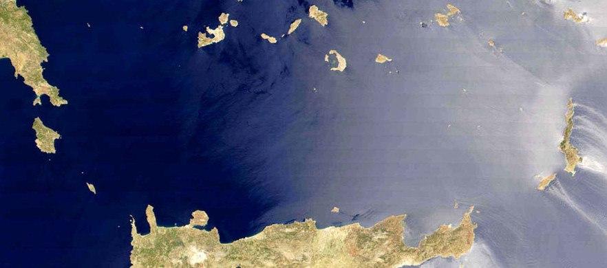 Cretan Sea satellite picture