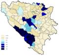 Croats percentage 2013.png