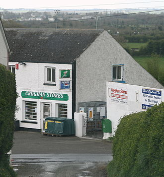 Croghan, County Offaly - Croghan village from Croghan Hill