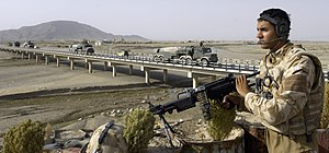 No. 3 Squadron RAF Regiment - 3 Squadron providing over-watch security near Kandahar Airport, Afghanistan, 2008.