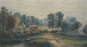 Crowhurst, East Sussex - Crowhurst in 1820, by Henry Harris Lines