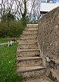 Curved lock steps, Stockton - geograph.org.uk - 1277032.jpg