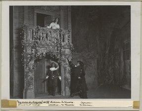 Cyrano de Bergerac, Dramatiska teatern 1901. Föreställningsbild - SMV - H12 030.tif