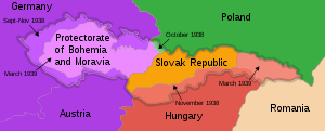 Gauliga Böhmen und Mähren - The partition of Czechoslovakia from 1938 through 1939