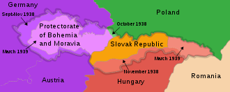 Gauliga Sudetenland - The partition of Czechoslovakia from 1938 through 1939