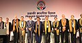 "D.V. Sadananda Gowda in a group photograph at the Plenary Session- VIII on ""Leveraging Diaspora Expertise for Knowledge and Innovation"", at the Pravasi Bharatiya Divas (PBD-2017) convention, in Bengaluru, Karnataka.jpg"