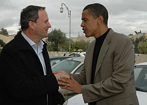 Ze'ev Bielski - Chairman of the Jewish Agency Ze'ev Bielski meeting Senator Barack Obama in Jerusalem, 2006