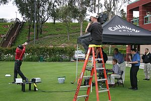 Electronic field production - DP Mark Schulze videotapes golf pro Phil Mickelson at Callaway  hand-held with a Sony Betacam SP camera, 2005