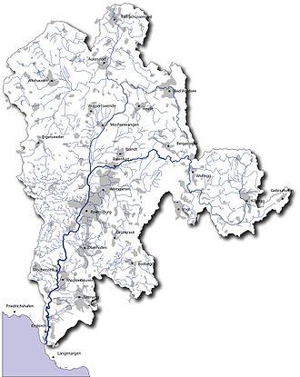 Schussen - Drainage basin of river Schussen
