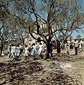Dansen in een kring. Frankrijk, Bestanddeelnr 254-6028.jpg