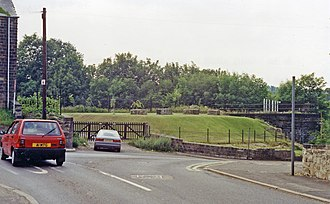 Darfield railway station - Location of the former station (1992)