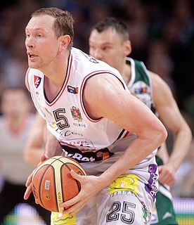Darius Songaila retired Lithuanian basketball player