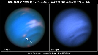 Great Dark Spot - Image: Dark spot on Neptune