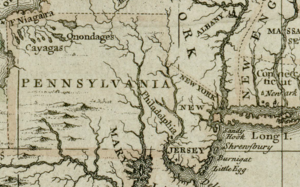 Allegheny County, Pennsylvania - 1680 British map of western Pennsylvania, and Allegheny County from the Darlington Collection