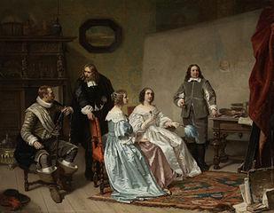 The Princess of Orange Visiting the Work-shop of Bartholomeus van der Helst