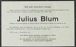 Death notice Julius Blum Pasha, 1919.jpg