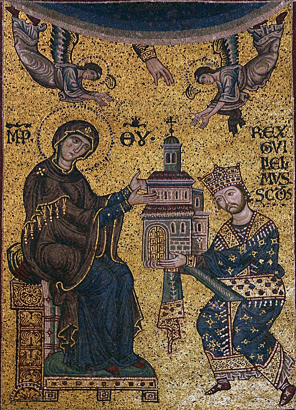 Dedication mosaic - Cathedral of Monreale - Italy 2015 (crop)