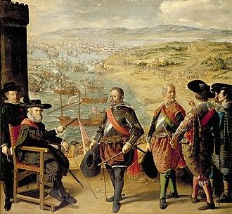 Anglo-Spanish War (1625–1630) - The Defense of Cadiz Against the English by Francisco de Zurbarán