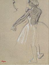 Degas - Tänzerin, ihren Schulterträger richtend.jpeg