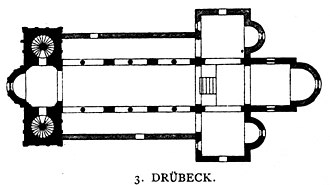 Drübeck Abbey - Plan of the 12th century abbey church