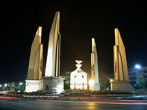 Democracy Monument in Bangkok, Thailand, Octob...