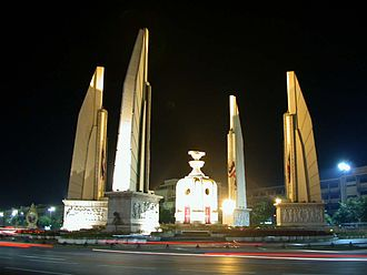 Democracy Monument - Night view