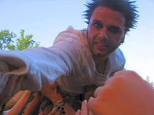 Dero (OOMPH!) at Ruisrock 2006 - crowdsurfing.jpg
