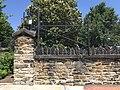 Detail of stone wall, Greenmount Cemetery, 1501 Greenmount Avenue, Baltimore, MD 21202 (34226679243).jpg