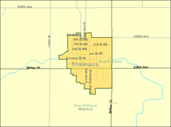 Detailed map of New Richland, Minnesota