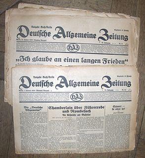 <i>Deutsche Allgemeine Zeitung</i> periodical literature