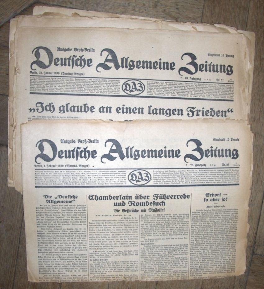 Deutsche Allgemeine Zeitung 1939
