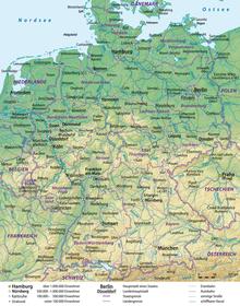 Carte Allemagne Villes