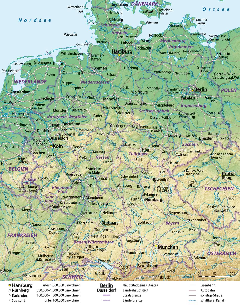 Deutschland Übersichtskarte