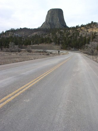 National Register of Historic Places listings in Crook County, Wyoming - Image: Devils Tower Entrance Road