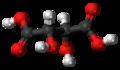 Dextrotartaric acid 3D ball.png