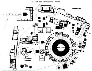 Dharmarajika Stupa - Plan of the Dharmarajika Stupa.