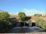 Diamond Fork flowing under railroad tracks, Jul 15.jpg