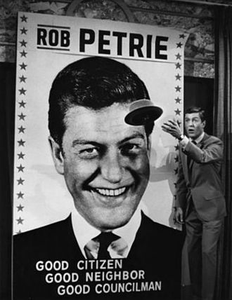 The Dick Van Dyke Show - Rob throws his hat into the ring in the election for city councilman, 1965.