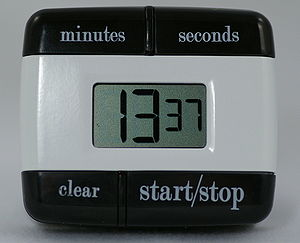 English: A digital timer for kitchen use.