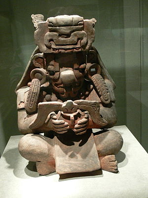 Cocijo -  An Early Classic representation of Cocijo found at Monte Albán and now in the Museo Nacional de Antropología in Mexico City.