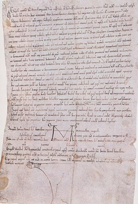 Prima menzione scritta del castello di Udine in un diploma di Ottone II (983)